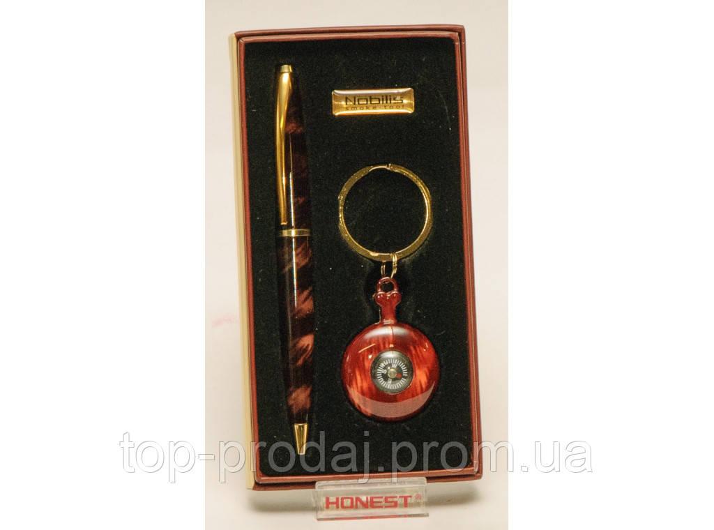 PN4-5853 Подарочный Набор: Ручка + Брелок - Фонарик, Оригинальный подарок, Сувенир, Набор на подарок