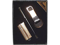 PN1-47 Подарочный набор APONS: зажигалка + ручка + брелок, Подарок мужчине, Стильный набор на подарок, Презент