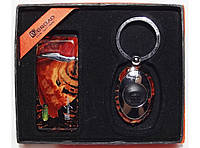 PN3-81 Подарочный набор BROAD: зажигалка + фонарик, Сувенирный набор с зажигалкой, Брелок фонарик, Подарок
