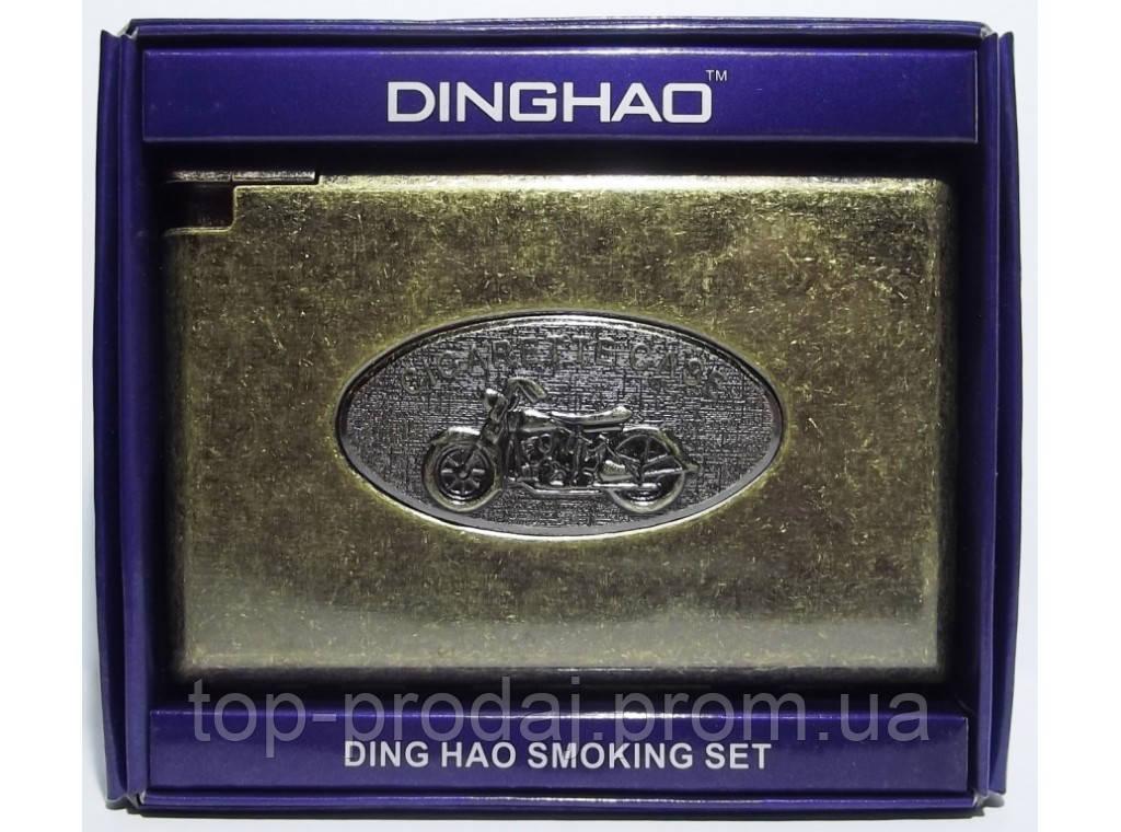 PR7-61 Портсигар металлический с зажимом (старая бронза), Футляр для сигарет, Портсигар подарочный