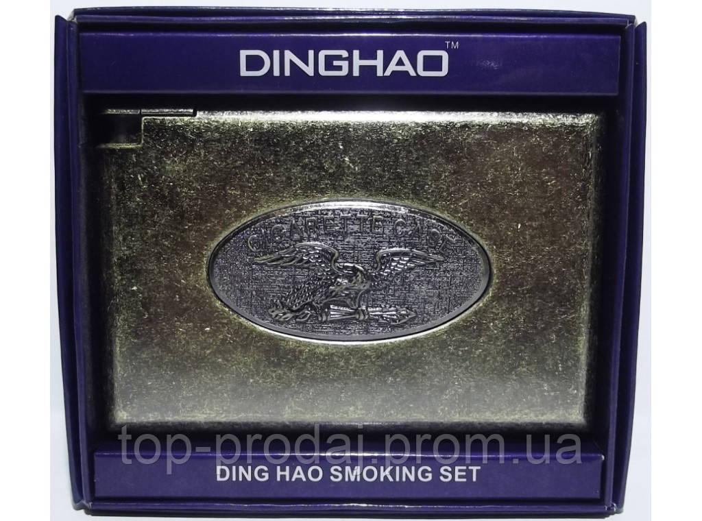PR7-60 Портсигар с зажимом (старая бронза), Портсигар металлический, Портсигар подарочный