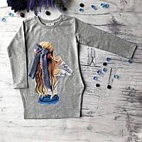 Детское серое платье Breeze для девочки 168. Размер 116 см (6 лет), 134 см, 140 см, 152 см, фото 1