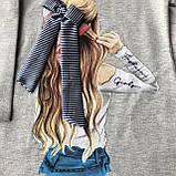 Детское серое платье Breeze для девочки 168. Размер 116 см (6 лет), 134 см, 140 см, 152 см, фото 2