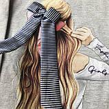 Детское серое платье Breeze для девочки 168. Размер 116 см (6 лет), 134 см, 140 см, 152 см, фото 3
