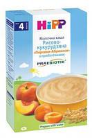 Молочная рисово-кукурузная каша HiPP Персики-абрикосы с пребиотиками, 250 г