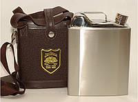 F1-44 ФЛЯГА КАНИСТРА 1,6 Л, Фляга с чехлом и ремешком, Большая фляга, Фляга из нержавеющей стали