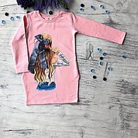 Детское розовое платье Breeze для девочки 169. Размер 116 см (6 лет), 140 см, 152 см, фото 1