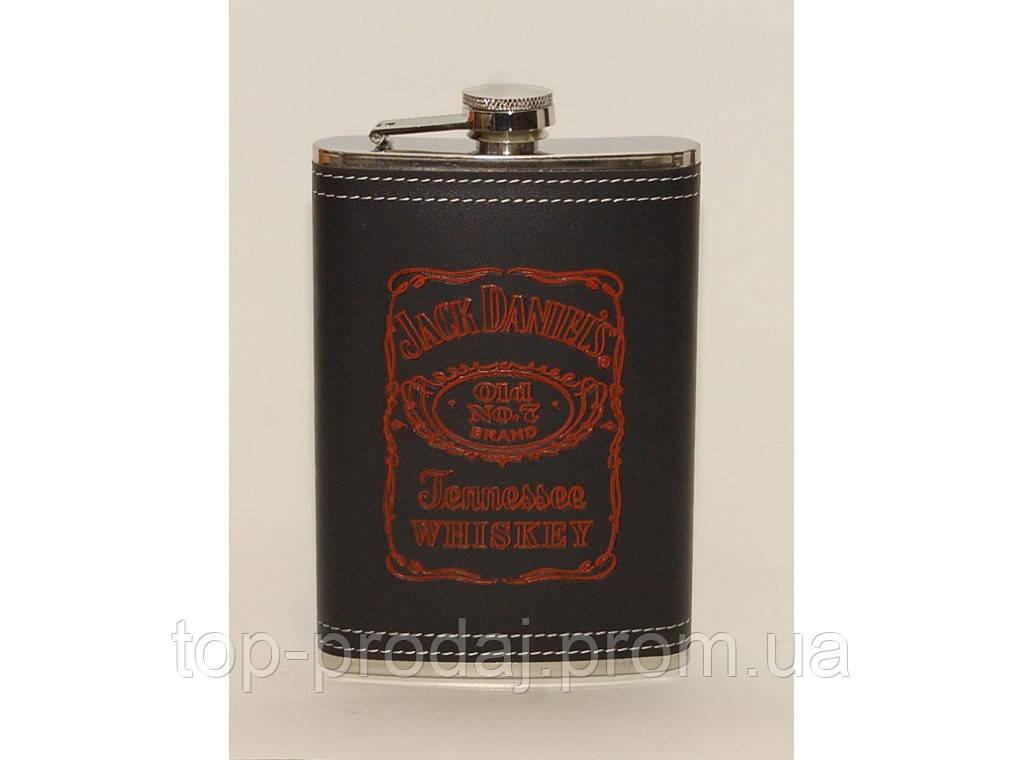 F1-39 Фляга Jack Daniel's, Подарочная фляга, Фляга 270 мл, Фляга для алкогольных напитков