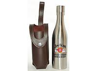 F1-31 Фляга 2 в 1 в форме бутылки в чехле, Фляга подарочная 500 мл, Фляга Jim Beam из нержавеющей стали