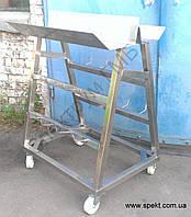 Тележка для перевозки шнеков и решеток мясорубки