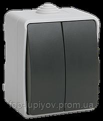 """ВС20-2-0-ФСр выключатель двухклавишный для наружной установки IP54 """"ФОРС"""", ІЕК"""
