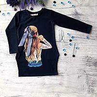 Детское синее платье Breeze для девочки 170. Размер 116 см , 134 см, 140 см, фото 1