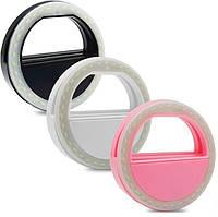 Светодиодное Кольцо для Селфи Selfie Ring Light с USB зарядкой Селфи Кольцо для Телефона (2847)