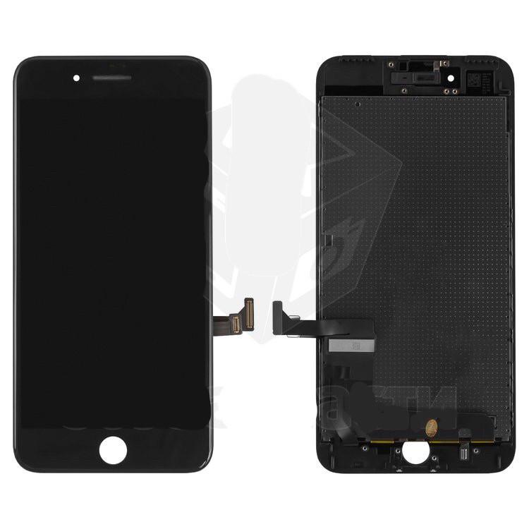 Дисплейный модуль (дисплей и сенсор) для iPhone 7 Plus, черный, с рамкой, оригинал