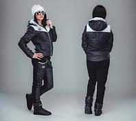 Зимний спортивный костюм женский на прогулку черный, фото 1