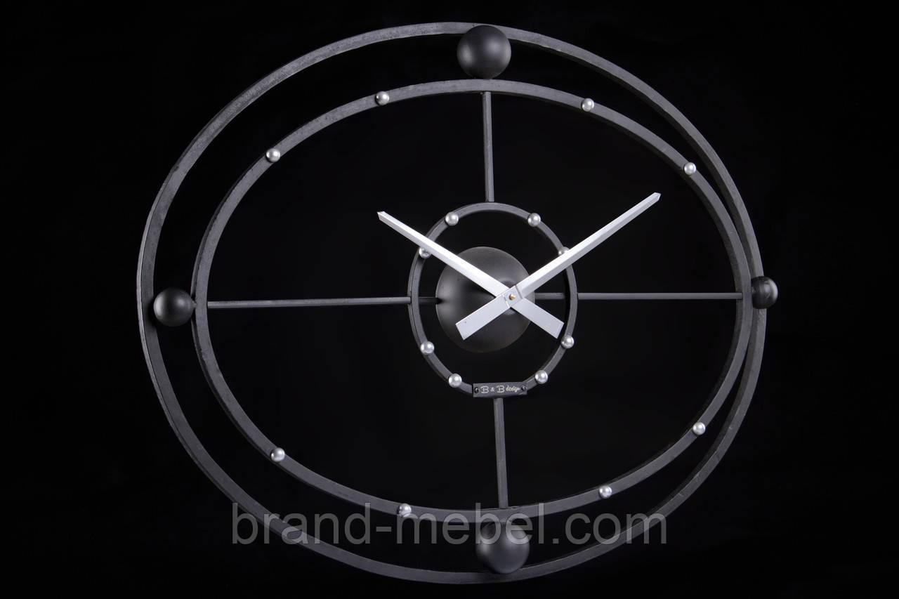Настінний кований годинник Space/Кованые настенные часы Спейс