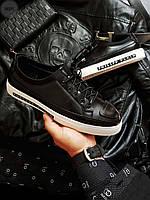 Мужские кроссовки Philipp Plein черные с литерами на подошве подошве