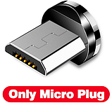 INIU Магнитный кабель Micro USB с подсветкой быстрая зарядка 2.4А для Android Samsung Xiaomi Цвет зелёный, фото 2