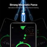 INIU Магнитный кабель Micro USB с подсветкой быстрая зарядка 2.4А для Android Samsung Xiaomi Цвет зелёный, фото 5