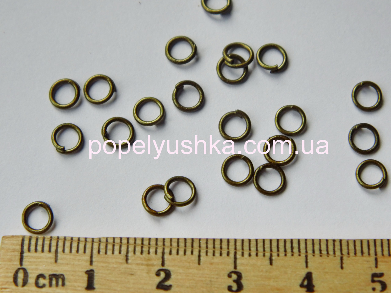 Колечки одинарные 4 мм Бронза 10 шт / уп