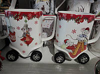 Фарфоровая чашка на колесах с символом года