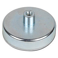 Неодимовый магнит D48 48мм * 12мм крепежный в корпусе с резьбой 60кг