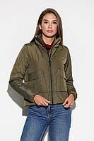 Короткая женская демисезонная куртка хаки, фото 1