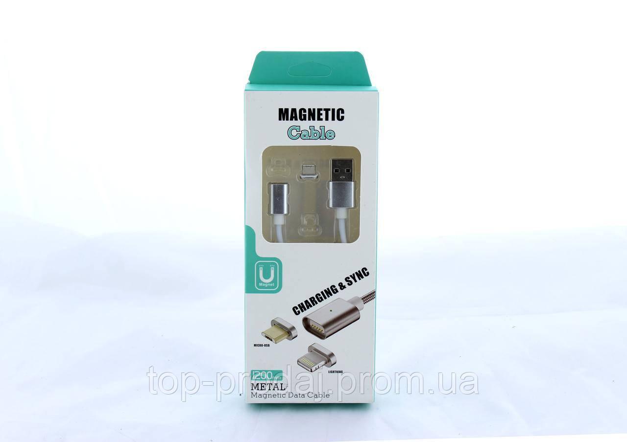 Шнур для мобильного Magneti micro, Магнитный кабель usb, Провод USB с магнитным штекером