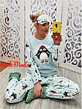 Женская красивая и теплая пижама/домашний костюм, фото 2