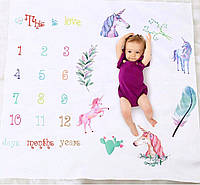 Фотопеленка пеленка-Календарь  пеленка для фотосессии новорожденных