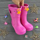 Розовые сапоги на дождь из пены ЭВА, р.28/29, стелька 18 см. Резиновые сапоги., фото 7