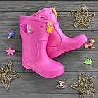 Розовые сапоги на дождь из пены ЭВА, р.28/29, стелька 18 см. Резиновые сапоги., фото 8