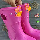 Розовые сапоги на дождь из пены ЭВА, р.28/29, стелька 18 см. Резиновые сапоги., фото 6