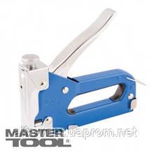 MasterTool  Степлер пружинный для скобы 4-14 мм 11,3*0,7мм, плавная регулировка силы удара, корпус металл, Арт.: 41-0905