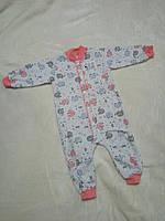 Пижама с начесом 74-80см