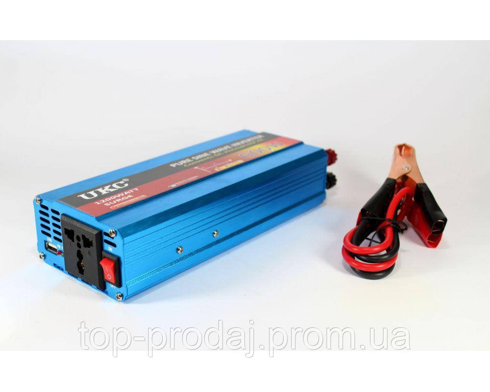 Синусоидальный преобразователь  AC/DC 1200W , Авто инвертор , Инвертор 1200W, Универсальный инвертор