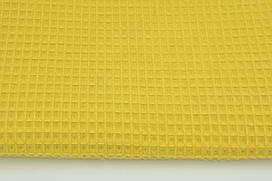 Мягкая Вафелька горчично-желтая 160 см