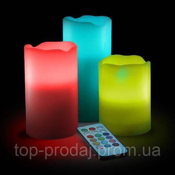 Ночник luma candles, Светильник 3 свечи , Свечи с пультом, Комплект светодиодных свечей с ДУ