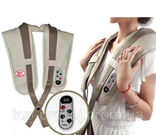 Ударный вибромассажер для спины, плеч и шеи Cervical Massage Shawls, Вибрационно-ударный массажер