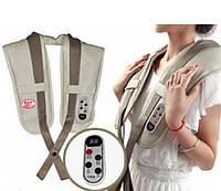 Ударный вибромассажер для спины, плеч и шеи Cervical Massage Shawls, Вибрационно-ударный массажер, фото 1