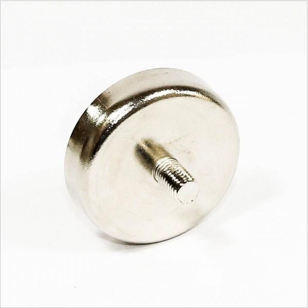 Неодимовий магніт С16 16мм * 5мм кріпильний в корпусі з штирем 5кг