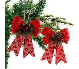 Новогодние банты на елку