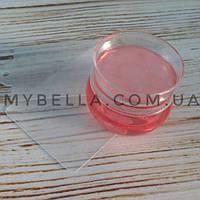 Набор для стемпинга (прозрачный штамп-зефирка + 2 пластиковые диска)