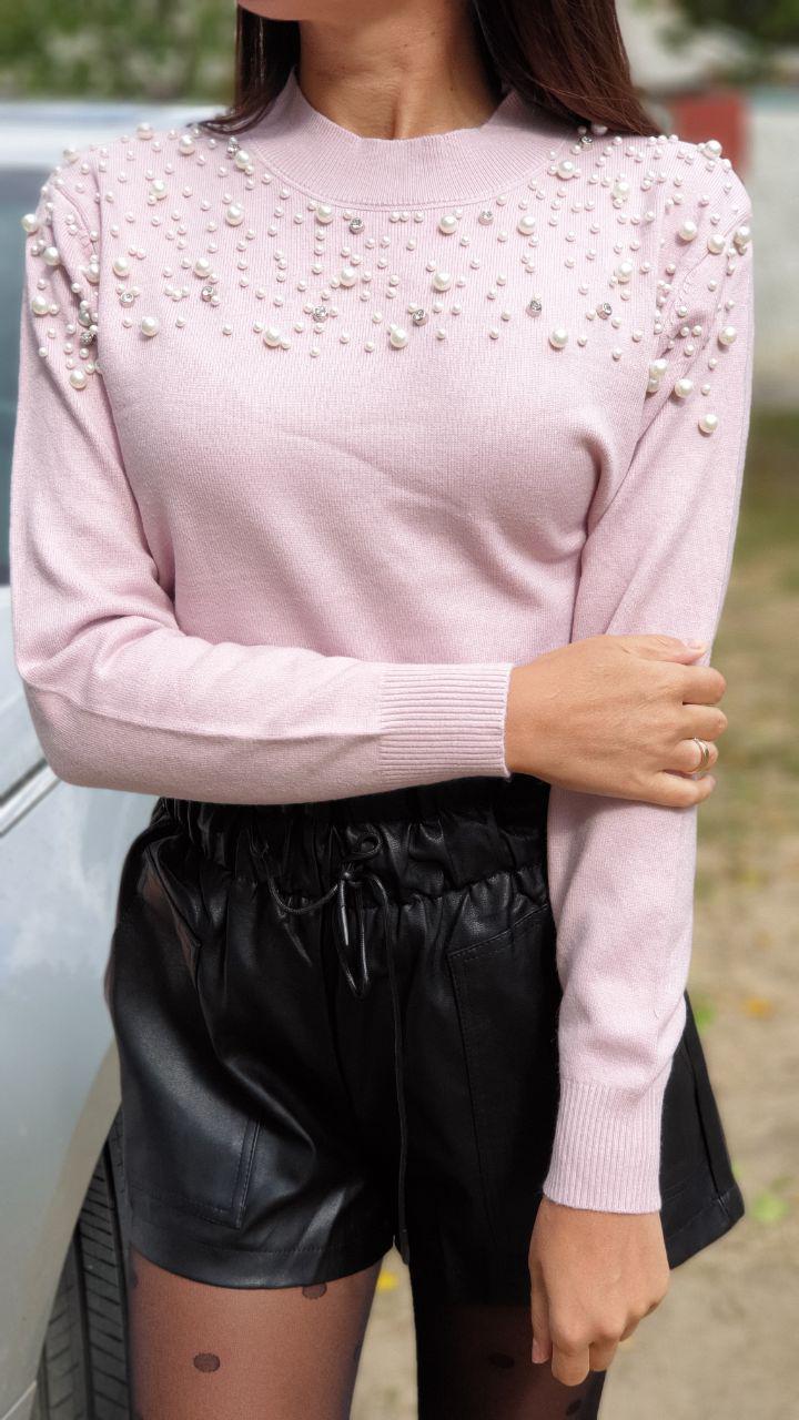 Кашемировый женский свитер с декором 79ddet623