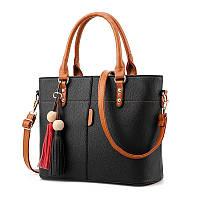 Женская сумка с контрастными ручками
