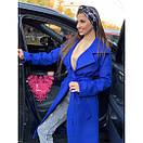 Кашемировое женское Пальто миди под пояс 71pal212, фото 2