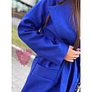 Кашемировое женское Пальто миди под пояс 71pal212, фото 3