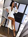 Платье из костюмки с разрезом на ноге и верхом на запах 20plt155, фото 3