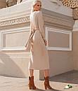 Трикотажное платье с перекрутом на талии и разрезом спереди 72plt159, фото 2