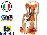 Велокрісло Bellelli Pepe Італія на багажник Бежеве, фото 1